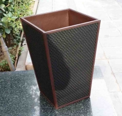 Custom Hotel Leather Trash Bin