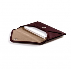RFID Envelope Genuine Leather Business Card Holder...