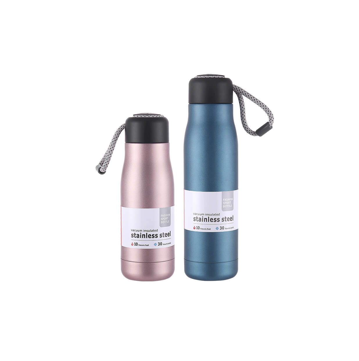 Stainless Steel Travel Mug with Grip