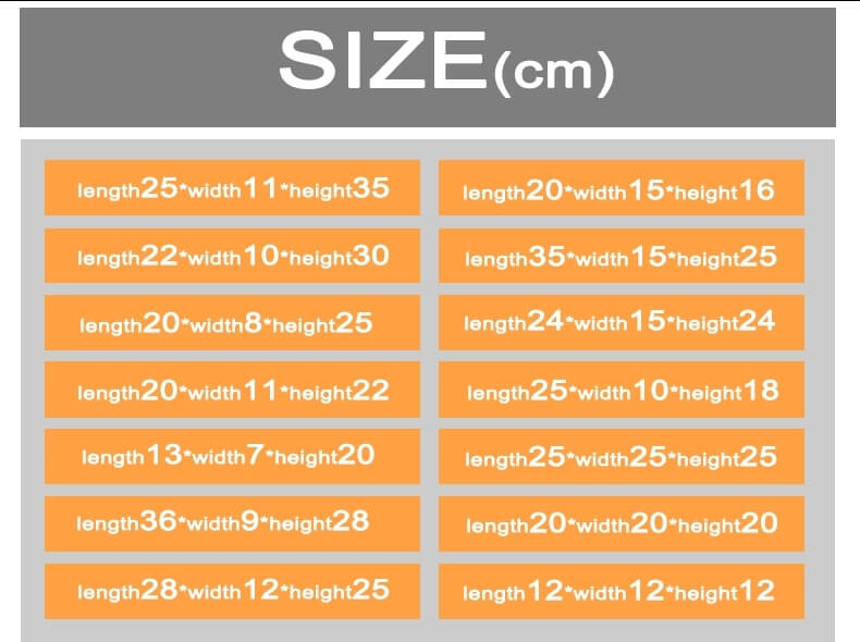 Shopping bag size