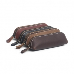 Genuine Leather Office Stationery Pencil Case Wate...