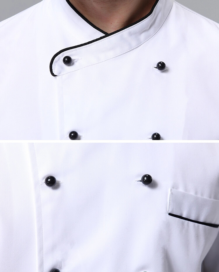 White Chef Uniforms collar