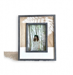 Decor Vintage Photo Frames in Printed Wood